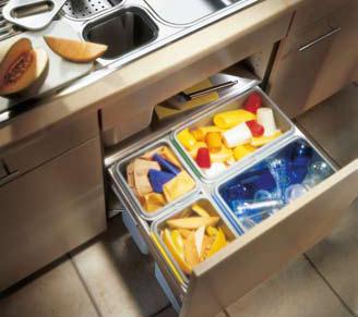 Mülltrennung in der küche